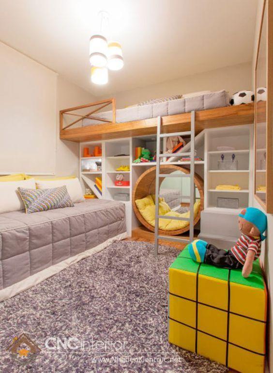 Vị trí đặt giường tầng cho trẻ
