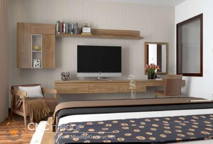 kệ tivi treo tường phòng ngủ 2