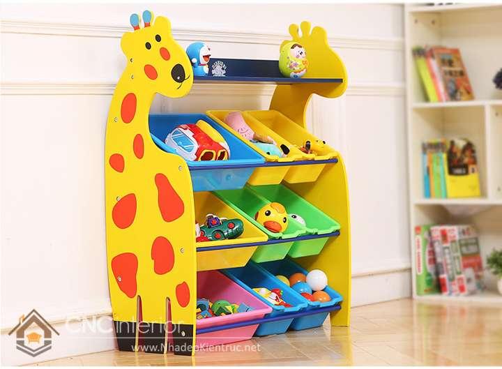 Kệ tủ đựng đồ chơi trẻ em 3