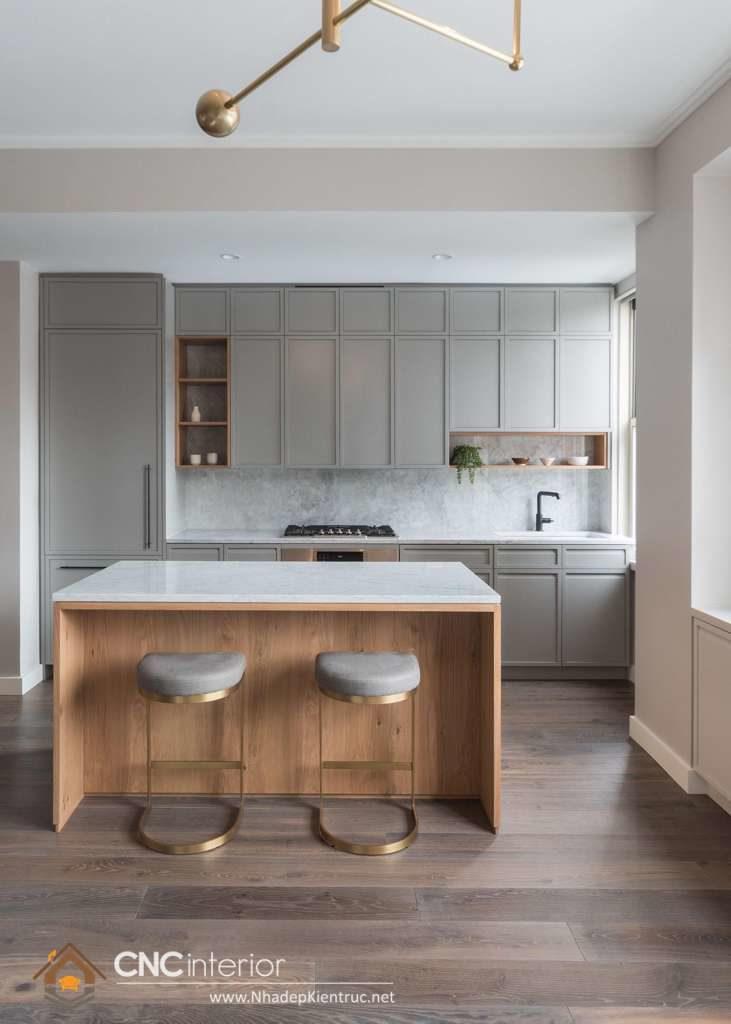 tủ bếp gỗ tân cổ điển (1)