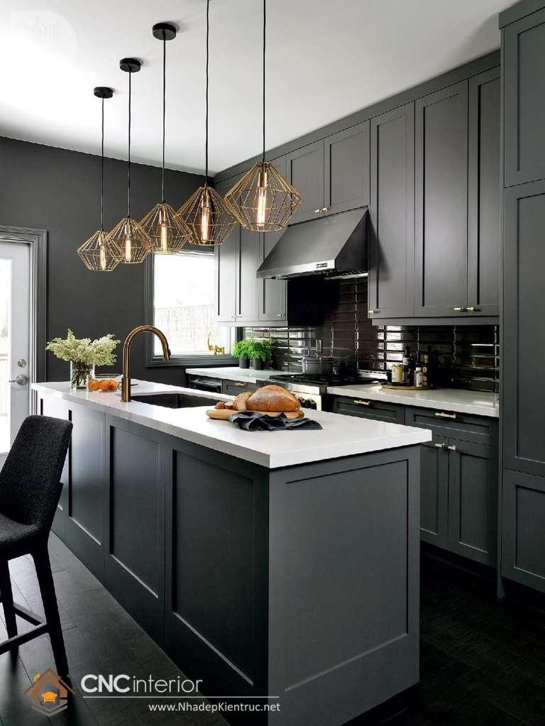 tủ bếp gỗ tân cổ điển (11)