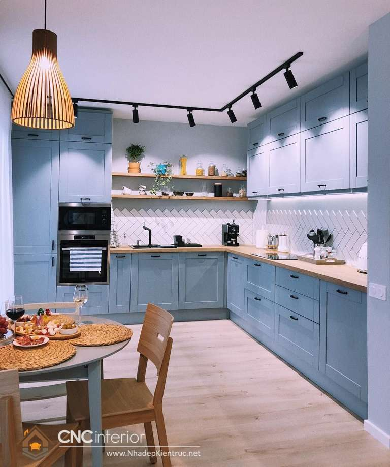 tủ bếp phong cách tân cổ điển (2)