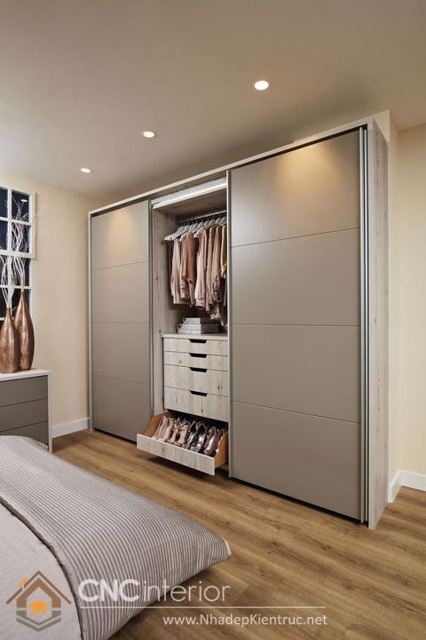 thiết kế mẫu tủ quần áo thông minh 3