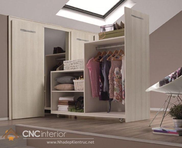 thiết kế mẫu tủ quần áo thông minh 9