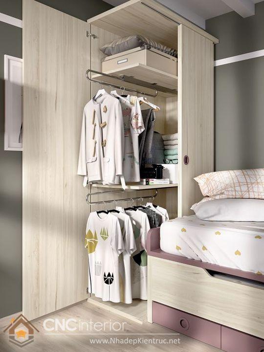 Thiết kế tủ đồ tích hợp hệ thống giá treo tự động