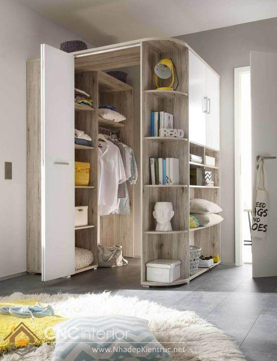 thiết kế mẫu tủ quần áo thông minh 2