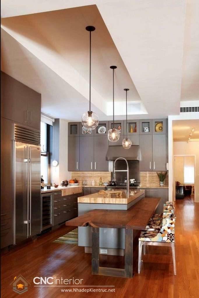 Phòng bếp đẹp cho nhà ống