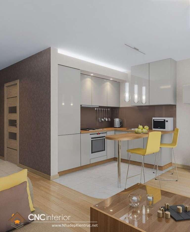 Phòng bếp cho nhà ống (6)