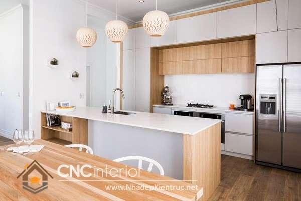 Phòng bếp đẹp đơn giản cho nhà ống (9)