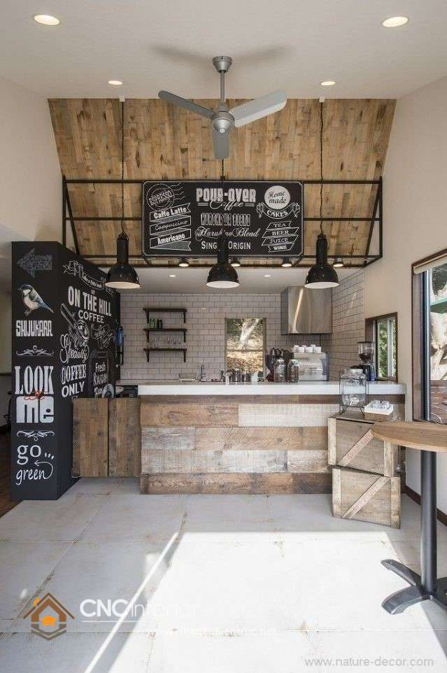 quầy bar cafe mini phong cách industrial (5)