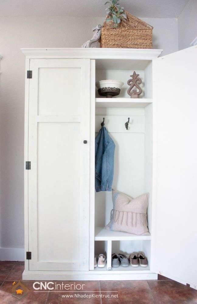 Tủ quần áo bằng gỗ ép 2 cánh (10)