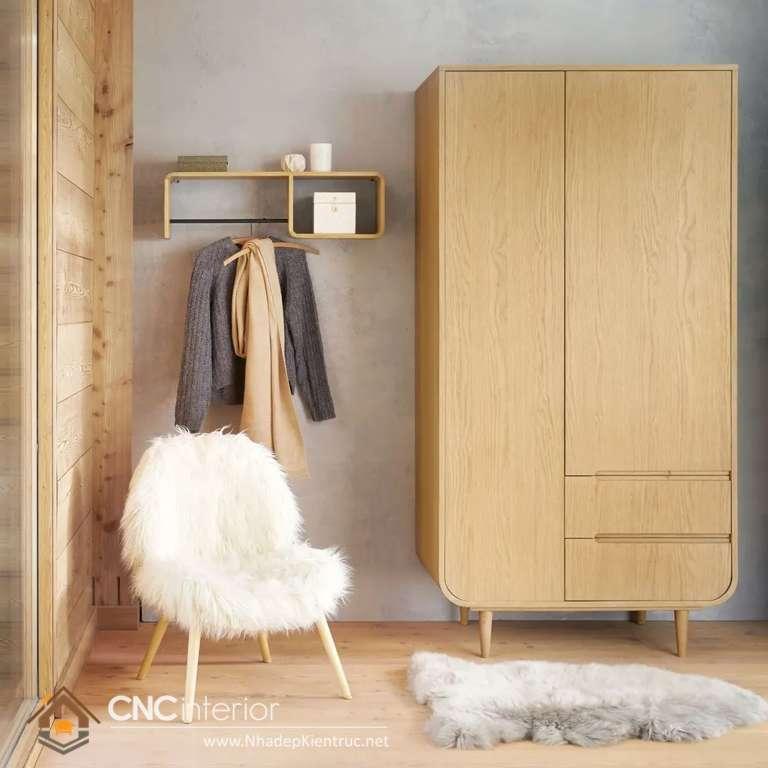 Tủ quần áo bằng gỗ ép 2 cánh (11)_