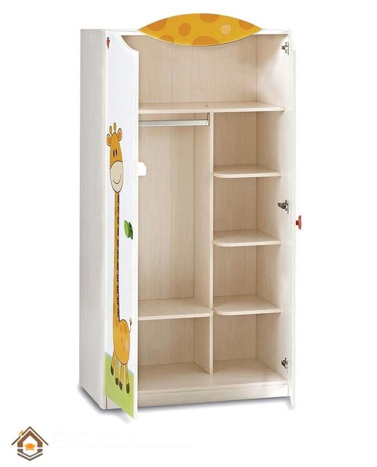 Tủ quần áo bằng gỗ ép tone màu tươi sáng giành cho bé (6)