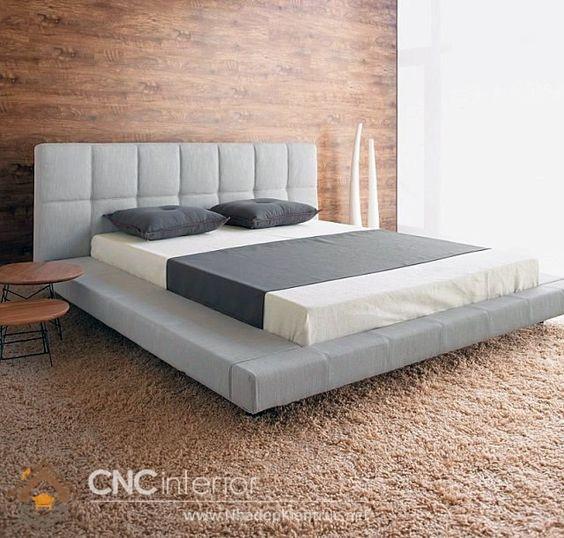 Giường bọc vải nỉ 2