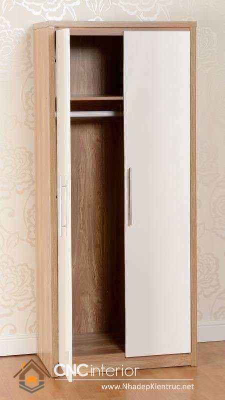 mẫu tủ quần áo bằng gỗ ép 2 cánh (23)
