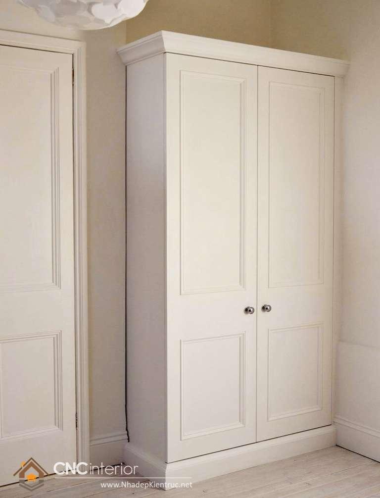 mẫu tủ quần áo bằng gỗ ép 2 cánh