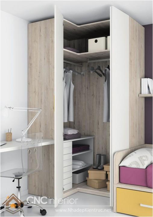 Phù hợp cho không gian hẹp với mẫu tủ đồ nhỏ gọn