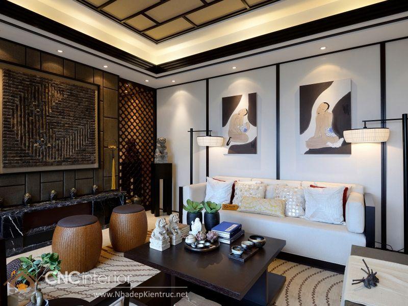 thiết kế nội thất phong cách Á Đông 1