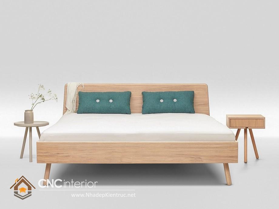 Giường gỗ sồi trắng trẻ trung 18