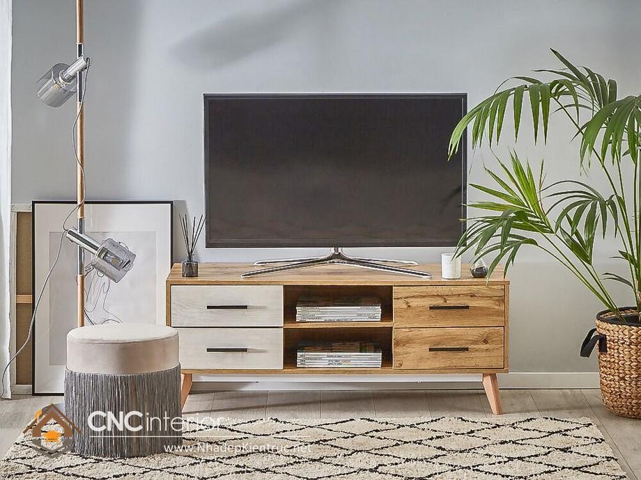 kệ tivi phòng khách bằng gỗ tự nhiên 19