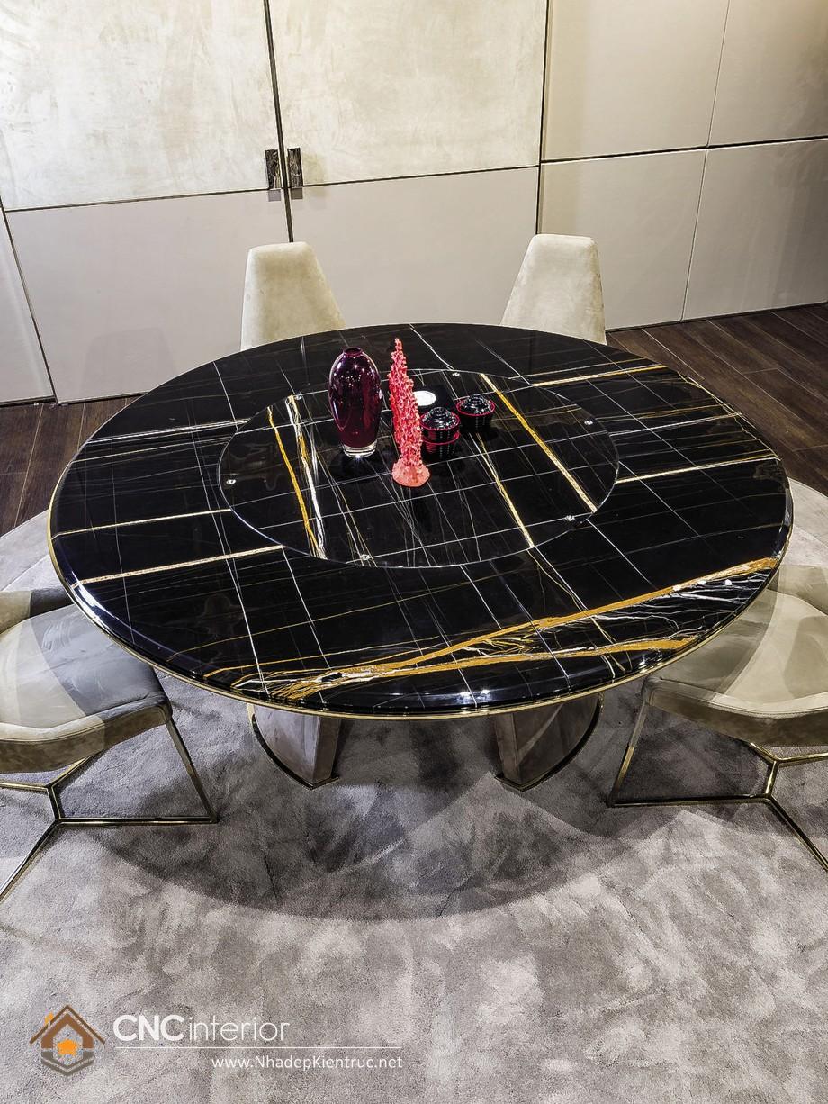 bàn ăn tròn mâm xoay 12