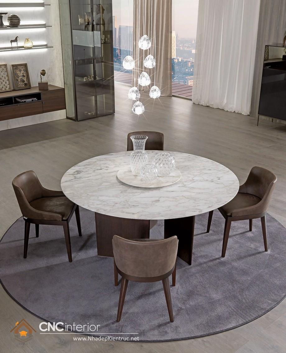 bàn ăn tròn mâm xoay 10