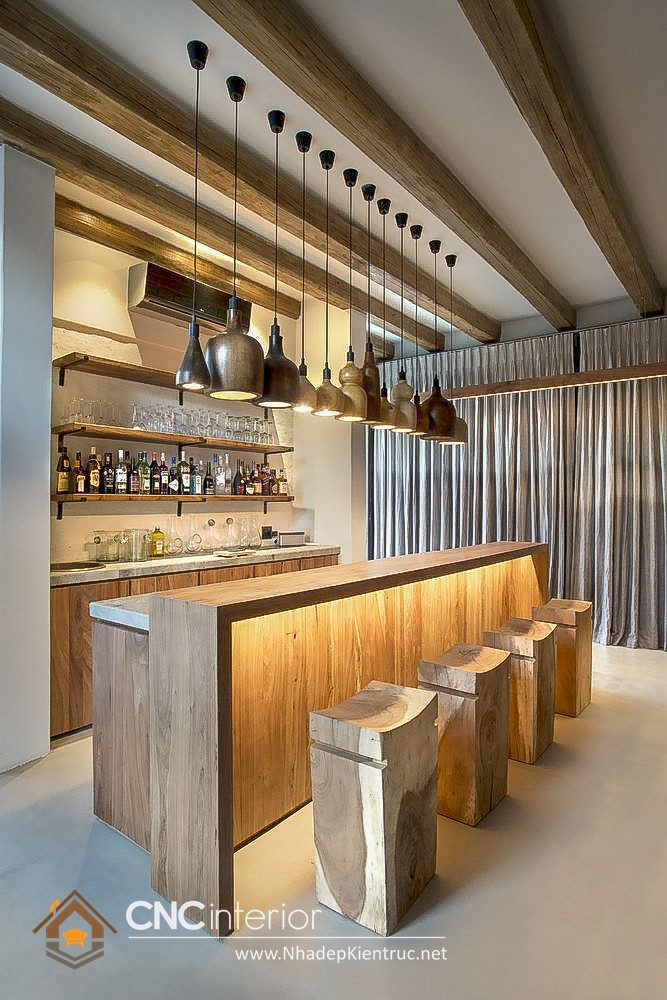 quầy cafe gỗ 3
