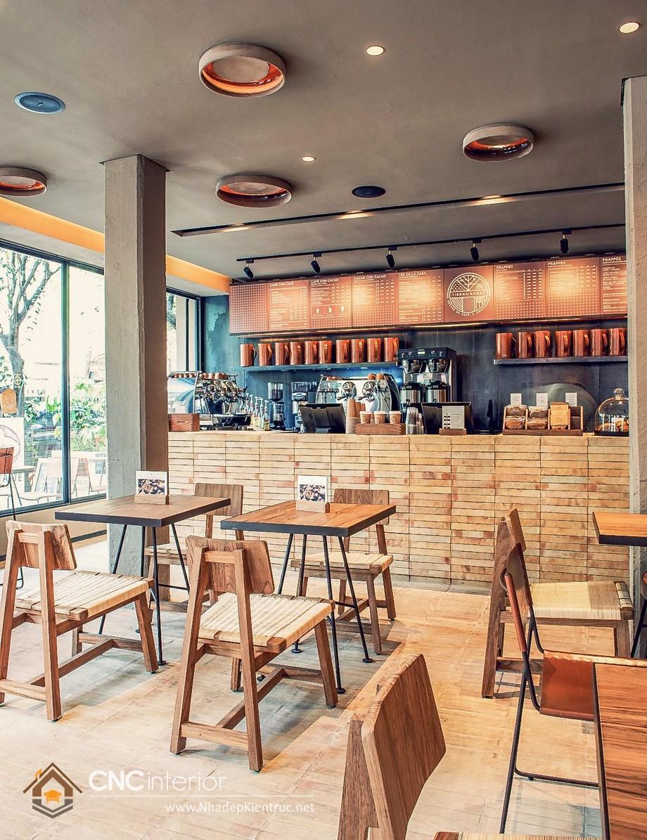 quầy bar cafe gỗ 18