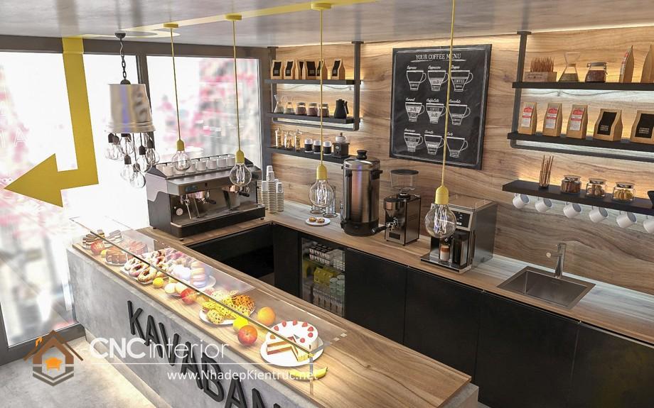 quầy bar cafe gỗ 23