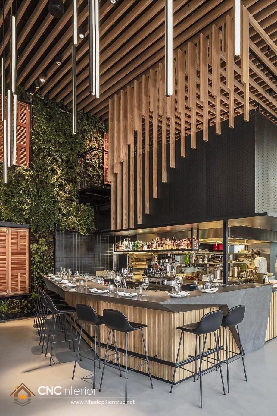 quầy bar cafe gỗ 19